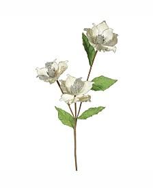 "Vickerman 33"" Champagne Magnolia Artificial Christmas Flower"