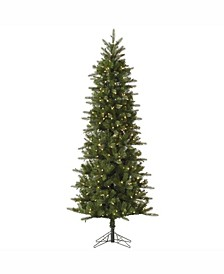 9 ft Carolina Pencil Spruce Artificial Christmas Tree With 500 Clear Lights