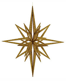 "Vickerman 32"" Gold Iridescent Star Christmas Ornament"