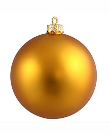 "8"" Antique Gold Matte Ball Christmas Ornament"