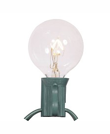 Vickerman 25 Clear G40 Twinkle Light On Green Wire, Christmas Light Strand