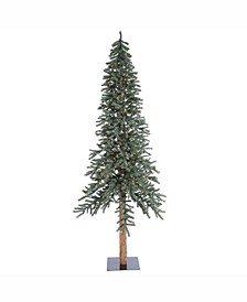 9 ft Natural Bark Alpine Artificial Christmas Tree