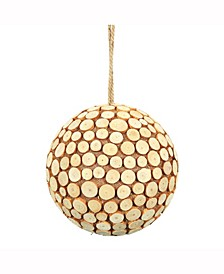"8"" Pine Chip Ball Ornament."