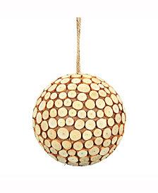 "8"" Pine Chip Ball Ornament."