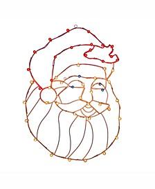"""48"""" C7 Led Santa Head Wire Silhouette"""