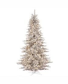 3' Silver Tinsel Fir Artificial Christmas Tree