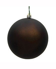 "8"" Chocolate Matte Uv Treated Ball Christmas Ornament"