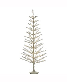 """5' X 24"""" Champagne Feather Tree"""