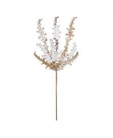 "20"" Gold Petal Flower Spray 3/Bg"
