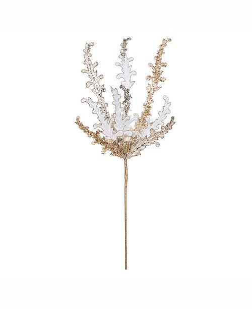 """Vickerman 20"""" Gold Petal Flower Spray 3/Bg"""