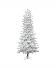6.5 ft Crystal White Pine Slim Artificial Christmas Tree Unlit