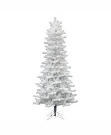 Vickerman 6.5 ft Crystal White Pine Slim Artificial Christmas Tree Unlit