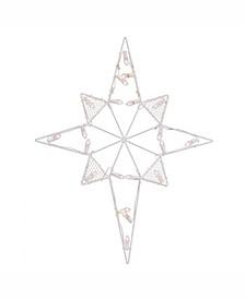 "39"" C7 Led Star Of Bethlehem Wire Silhouette"