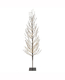 Vickerman 8' Silver Artificial Christmas Tree With 800 Warm White Led Lights