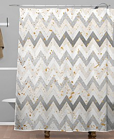 Iveta Abolina Chevron Confetti Shower Curtain