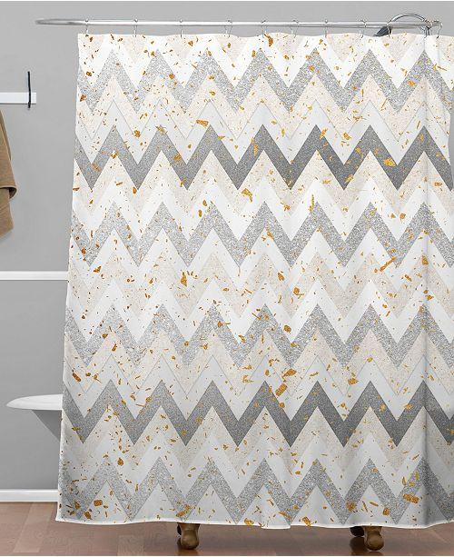 Iveta Abolina Chevron Confetti Shower Curtain