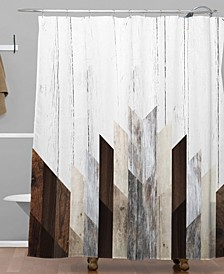 Iveta Abolina Geo Wood 3 Shower Curtain