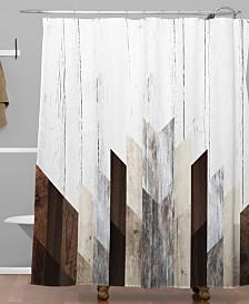 Deny Designs Iveta Abolina Geo Wood 3 Shower Curtain