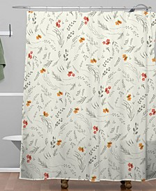 Iveta Abolina Caramel Cream Shower Curtain