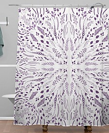 Iveta Abolina Lavender Maze Shower Curtain