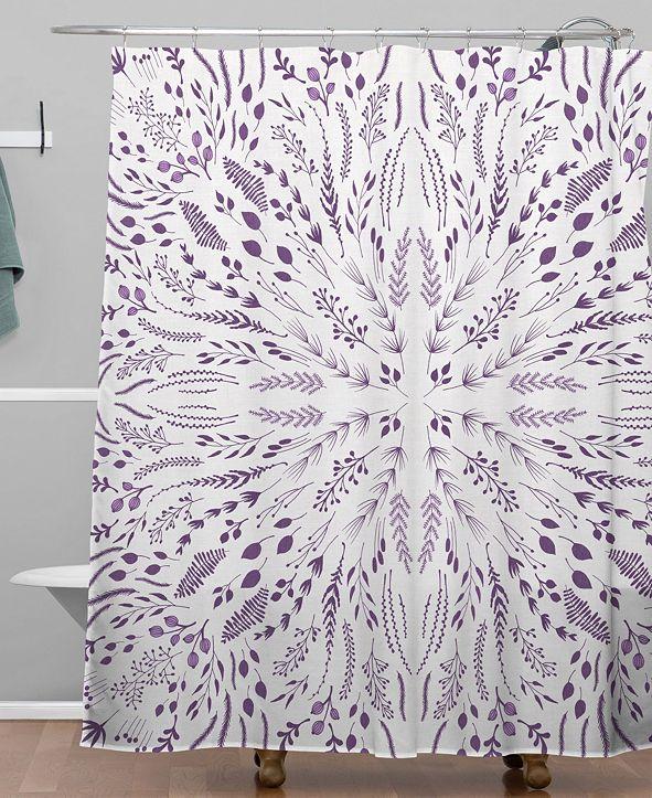 Deny Designs Iveta Abolina Lavender Maze Shower Curtain