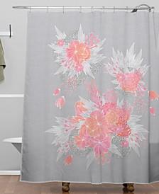 Iveta Abolina Coral Nostalgia Shower Curtain