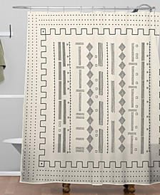 Iveta Abolina Mud Cloth Inspo VI Shower Curtain
