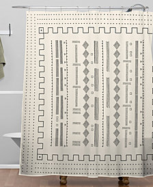 Deny Designs Iveta Abolina Mud Cloth Inspo VI Shower Curtain