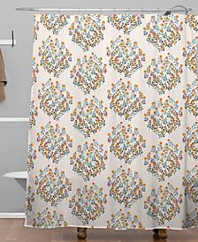Iveta Abolina Peach Meadow Shower Curtain