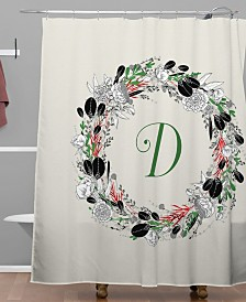Deny Designs Iveta Abolina Silver Dove Christmas D Shower Curtain