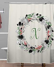 Iveta Abolina Silver Dove Christmas X Shower Curtain