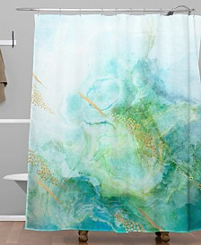 Deny Designs Iveta Abolina Winter Marble II Shower Curtain