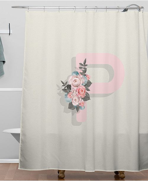 Deny Designs Iveta Abolina Pivoine P Shower Curtain