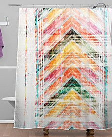 Iveta Abolina Sun Kissed Chevron Shower Curtain