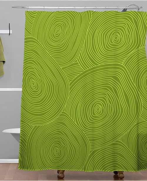 Deny Designs Iveta Abolina Green Terrace II Shower Curtain