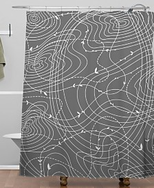Deny Designs Iveta Abolina The Tangled Web Shower Curtain