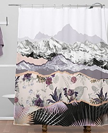 Mountainside Jungle Bath Mat by Iveta Abolina