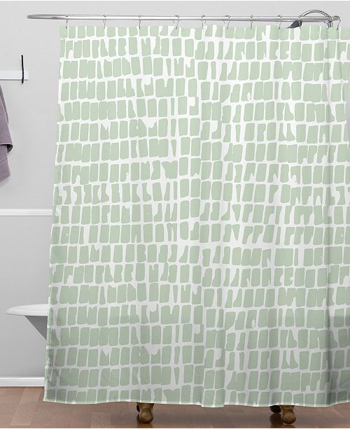 Iveta Abolina Cobbler Square Sage Shower Curtain