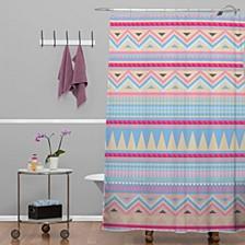 Iveta Abolina Rusty Lace Shower Curtain