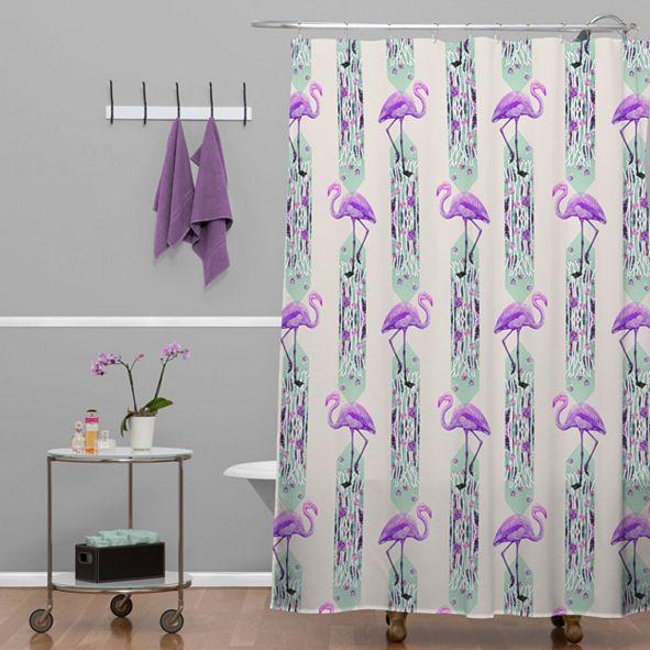 Deny Designs Iveta Abolina Colorful Crystals Shower Curtain