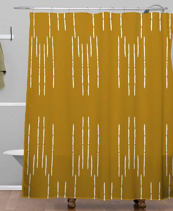 Deny Designs Iveta Abolina La Jardin Noir VIII Shower Curtain