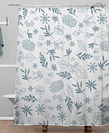 Iveta Abolina Oslo Winter Frost Shower Curtain