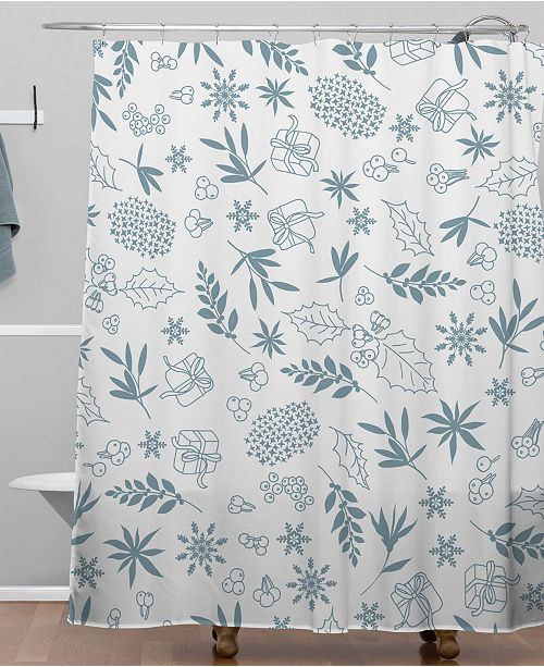 Iveta Abolina Oslo Winter Frost Shower Curtain