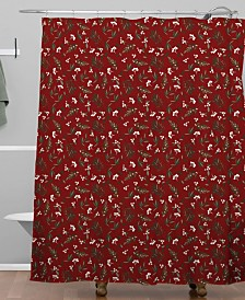 Deny Designs Iveta Abolina Nordic Olive Red Shower Curtain