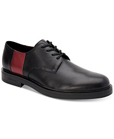 Calvin Klein Men's Dathan Plain-Toe Leather Oxfords