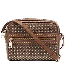 DKNY Faye Top Zip Logo Camera Bag, Created for Macy's
