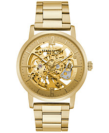 Kenneth Cole New York Men's Automatic Gold-Tone Stainless Steel Bracelet Watch 43mm