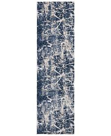 "Home KI35 Heritage KI356 Beige/Blue 2'2"" x 7'6"" Runner Area Rug"