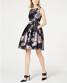 Jessica Howard Floral Fit & Flare Dress