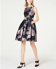 bbab21e1eb5e5 American Living Floral-Print Jacquard Dress   Reviews - Dresses ...